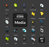 Color icons set in flat isometric illustration style, vector collection Royalty Free Stock Images
