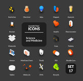 Color icons set in flat isometric illustration style, vector collection Stock Photos
