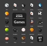 Color icons set in flat isometric illustration style, vector collection Royalty Free Stock Photography