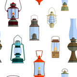 Color icons set with lantern. For your design Stock Photo