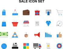 Color icons set. Sale pack. Vector illustration Royalty Free Stock Photography