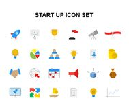 Color icons set. Start up pack. Vector illustration Stock Photos