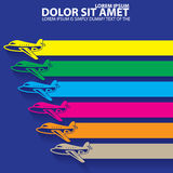 Color icons and stripes of  plane Stock Photo