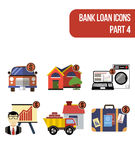 Color icons for various types of bank loan services Royalty Free Stock Photography
