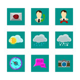 Color icons weather. Graphics color icons weather 9 Royalty Free Stock Image