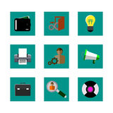 Color icons. For the web Royalty Free Stock Photography