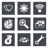 Color icons for Web Design set 46 Stock Photos