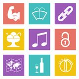 Color icons for Web Design set 48 Royalty Free Stock Photography