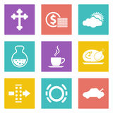 Color icons for Web Design set 31 Royalty Free Stock Photography