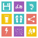 Color icons for Web Design set 27 Stock Images