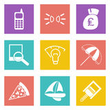 Color icons for Web Design set 36. Color icons for Web Design and Mobile Applications set 36. Vector illustration Stock Photos