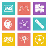 Color icons for Web Design set 40 Stock Images
