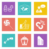 Color icons for Web Design set 35 Stock Photography