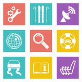 Color icons for Web Design set 39 Stock Image