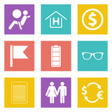 Color icons for Web Design set 47 Royalty Free Stock Photography