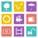 Color icons for Web Design set 44 Royalty Free Stock Image