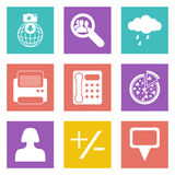 Color icons for Web Design set 49 Royalty Free Stock Photography