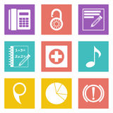 Color icons for Web Design set 36 Royalty Free Stock Photography