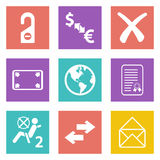 Color icons for Web Design set 32 Royalty Free Stock Images