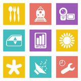 Color icons for Web Design set 50 Stock Image