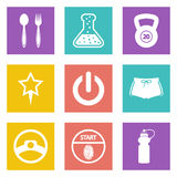 Color icons for Web Design set 41 Stock Photography