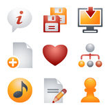 Color icons for website 10. Vector icons set for websites, guides, booklets