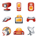 Color icons for website 21 Stock Photography