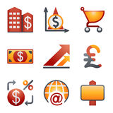 Color icons for website 23 Royalty Free Stock Photography
