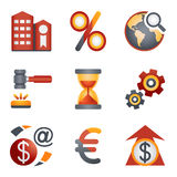 Color icons for website 25 Stock Photography