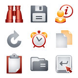 Color icons for website 3 Royalty Free Stock Photography