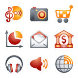 Color icons for website 5 Stock Photos