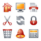 Color icons for website 7 Royalty Free Stock Photography