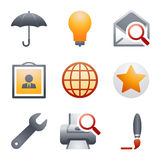 Color icons for website 9 Royalty Free Stock Photos