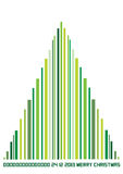 Color illustration of bar code christmas tree Stock Photo