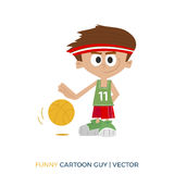 Color illustration. Basketball player Royalty Free Stock Images
