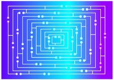 Color illustration of bright maze concept Stock Photo