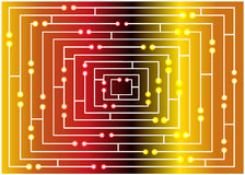 Color illustration of bright maze concept Stock Image