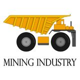 Color illustration of the dump truck for the mining industry Royalty Free Stock Image