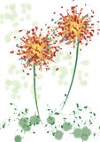 Color illustration with floral theme Royalty Free Stock Photos