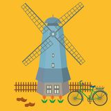 Color illustration of historical symbols of the Netherlands. Vector. vector illustration