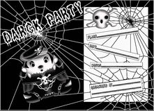 Party invitation black Royalty Free Stock Image