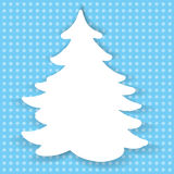 Color illustration of paper christmas tree Stock Image