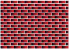 Color illustration of red bricks Royalty Free Stock Photo