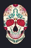 Color illustration of a sugar skull. The holiday of the Day of the Dead. Stock Photography