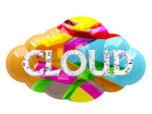 The color image cloud Royalty Free Stock Photos