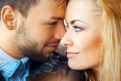 Color image og lovely couple wich looking each others Stock Images