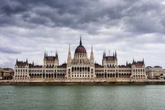 The parliament of Budapest across the river