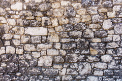 Color image - stone wall texture. Color image - ancient stone wall texture of rocks Stock Photo