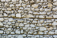 Color image - stone wall texture. Color image - ancient stone wall texture of rocks Royalty Free Stock Photo