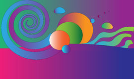 Color. Imagination, fantasy, color planets, sky and water Royalty Free Stock Image